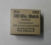 Norma .308Win Match 168grs 20st.