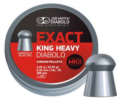 JSB Exact King Heavy MKII 6,35 mm - 2,200 g 150st