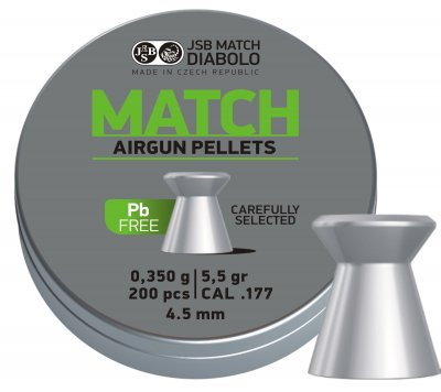 JSB Match Lead Free 0,350g 4,50mm 200st