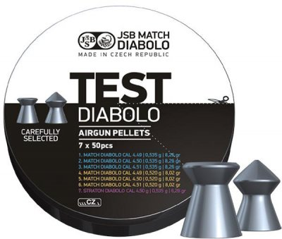 JSB Match Diabolo, Test Gevär 4,49, 4,50, 4,51mm