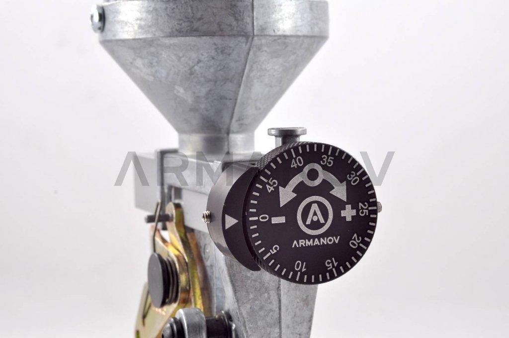 Armanov Clickable Dillon Precision Powder Thrower Adjustment Knob Assembly  – 50 clicks