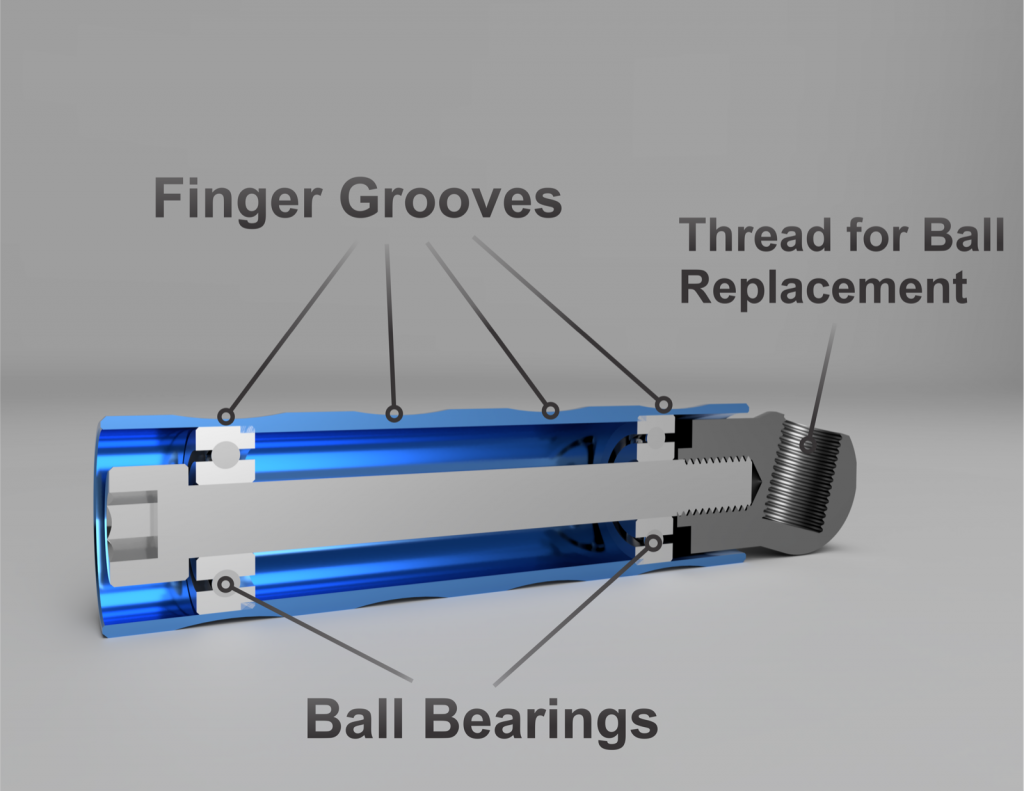 Ball Bearing Roller handle for Dillon XL650, RL550 and Square Deal  (Aluminum)